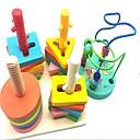 baratos Brinquedos Ábaco-Ábaco Escola / Teste padrão geométrico Criativo De madeira / Composto Madeira-Plástico 2 pcs Peças Crianças / Elementar Dom