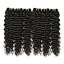 preiswerte Lipgloss-6 Bündel Brasilianisches Haar Wogende Wellen Echthaar Bundle Haar / One-Pack-Lösung / Echthaar Haarverlängerungen 8-28 Zoll Naturfarbe Menschliches Haar Webarten extention / Beste Qualität