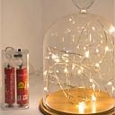 tanie Wakacje-3m lampki sygnalizacyjne 30 diod LED wodoodporne baterie zasilane lampką świąteczną nowy rok lampa prezentowa