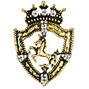 cheap Brooches-Men's Cubic Zirconia Vintage Style / Stylish Brooches - Horse, Creative Vintage, Fashion, Ancient Rome Brooch Jewelry Gold / Silver For Party / Daily