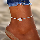 cheap Anklet-Retro Yoga Anklet Ankle Bracelet - Turtle Simple, Bohemian, Fashion Silver For Holiday Bikini Women's