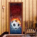 billige Veggklistremerker-Dørklistremerker - 3D Mur Klistremerker Abstrakt / Fotball Stue / Soverom