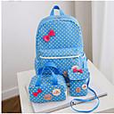olcso Preschool Backpacks-Női Táskák Műanyag táska szettek 3 db erszényes készlet Csokor Rubin / Arcpír rózsaszín / Barna