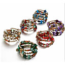 cheap Men's Bracelets-Women's Stylish Beads Strand Bracelet Wrap Bracelet - Resin Flower Stylish, Sweet, Boho Bracelet Red / Green / Blue For Gift Festival
