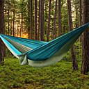 preiswerte Camping-Tools, Karabiner & Leinen-AOTU Campinghängematte Außen Tragbar, Leicht Nylon für Camping / Draußen / Drinnen - 2 Personen Gelb / Grau / Blau + Grau / Königsblau / Hellblau