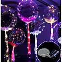 cheap Birthday Home Decorations-3M 30LED Balloon with Led Strip Luminous Led Balloons for Wedding Decorations Birthday Party Christmas New Year