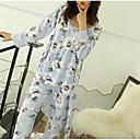 baratos Luminárias de Parede de Embutir-Mulheres Decote em V Profundo Conjunto Pijamas Floral