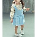 povoljno Kompletići za bebe-Dijete Djevojčice Osnovni Dnevno Cvjetni print Dugih rukava Regularna Pamuk Komplet odjeće Svjetloplav 100 / Dijete koje je tek prohodalo