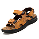 cheap Men's Sandals-Men's Nappa Leather Summer Comfort Sandals Black / Yellow / Brown