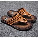baratos Sandálias e Chinelos Masculinos-Homens Sapatos Confortáveis Pele Verão Chinelos e flip-flops Preto / Amarelo / Azul