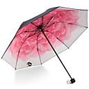 billige Paraply/parasoll-Rustfritt stål Alle Sol & Regn / Nytt Design Sammenfoldet paraply