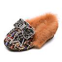 povoljno Cipele za djevojčice-Djevojčice Cipele PU Proljeće ljeto Udobne cipele Ravne cipele Hodanje Štras / Mašnica / Pom-pom za Djeca Crn / Bež / Color block