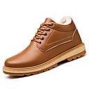 tanie Kozaki męskie-Męskie Komfortowe buty Skóra Zima Klasyczny / Casual Botki Zatrzymujący ciepło Czarny / Niebieski / Khaki
