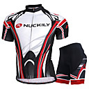 cheap Cycling Jersey & Shorts / Pants Sets-Nuckily Short Sleeve Cycling Jersey with Shorts - Black Bike Shorts / Jersey / Clothing Suit, Waterproof, Breathable, Ultraviolet Resistant, Waterproof Zipper, Reflective Strips Polyester Curve