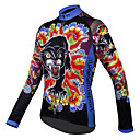 cheap Oil Paintings-ILPALADINO Women's Long Sleeve Cycling Jersey - Rainbow Rainbow Leopard Floral / Botanical Plus Size Bike Jersey Top, Breathable Quick Dry 100% Polyester / High Elasticity