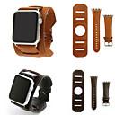 billige Smartklokke Tilbehør-Klokkerem til Apple Watch Series 4/3/2/1 Apple Lærrem Lær / Ekte lær Håndleddsrem