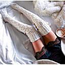 Χαμηλού Κόστους στολές Αξεσουάρ-Γυναικεία Κάλτσες Μέχρι το Γόνατο - Μονόχρωμο Μεσαίο