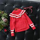 זול סוודרים ואריגים לבנות-סוודר וקרדיגן כותנה שרוול ארוך אחיד בסיסי בנות ילדים / פעוטות