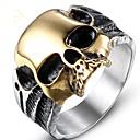 cheap Men's Rings-Men's Vintage Style Midi Ring - Titanium Steel Skull Vintage 8 / 9 / 10 / 11 / 12 Gold For Party Daily