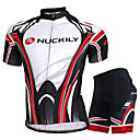 cheap Cycling Jersey & Shorts / Pants Sets-Men's Short Sleeve Cycling Jersey with Shorts - Black with White Bike Shorts Jersey Clothing Suit Breathable Sweat-wicking Sports Mesh Mountain Bike MTB Road Bike Cycling Clothing Apparel / Advanced