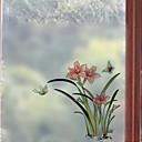 abordables Stickers de Ventana-Ventana de película y pegatinas Decoración Floral Flor CLORURO DE POLIVINILO Adhesivo para Ventana