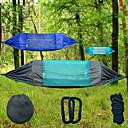 preiswerte Campingmöbel-Campinghängematte mit Moskitonetz Außen Leicht, Atmungsaktivität, UV-beständig Nylon, Oxford für Wandern / Strand / Camping - 2 Personen Grün / Schwarz / Dunkelblau