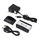 cheap USB Hubs & Switches-7 USB Hub EU Plug / US Plug USB 2.0 Cool Data Hub