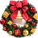 preiswerte Weihnachtsdeko-Girlanden / Weihnachtsschmuck Urlaub PVC Kreisförmig Party / Neuartige Weihnachtsdekoration