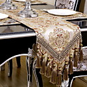 cheap Table Cloths-Contemporary 100g / m2 Polyester Knit Stretch Square Table Runner Geometric Table Decorations 1 pcs