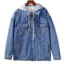 billige Hodeplagg til fest-kvinners jakke - farge blokk hette