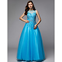 cheap Wedding Wraps-A-Line Jewel Neck Floor Length Tulle Prom / Formal Evening Dress with Beading by TS Couture®