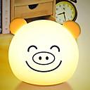 olcso Asztali dekor lámpa-1db LED éjszakai fény USB Új design / Színváltós / Imádni való <=36 V
