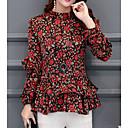 billige Danseudstyr-Dame - Blomstret Basale Bluse