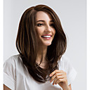 cheap Synthetic Capless Wigs-Synthetic Lace Front Wig Straight Side Part Synthetic Hair 16 inch Natural Hairline Brown Wig Women's Mid Length Lace Front Brown MAYSU / Yes