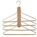 ieftine Puzzle Lemn-De lemn / Teak Multifuncțional Îmbrăcăminte Cuier, 1 buc