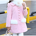 cheap Girls' Jackets & Coats-Kids Girls' Solid Colored Long Sleeve Trench Coat