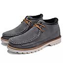 hesapli Erkek Botları-Erkek Ayakkabı PU Sonbahar Çizmeler Günlük için Siyah / Gri / Haki
