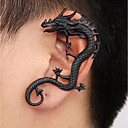 cheap Bakeware-Men's Vintage Style Ear Cuff - Dragon Punk Black For Street