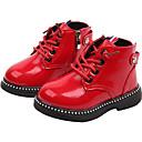 povoljno Jakne i kaputi za djevojčice-Djevojčice Cipele PU Zima / Jesen zima Vojničke čizme Čizme Hodanje Vezanje za Djeca Crn / Crvena / Čizme gležnjače / do gležnja