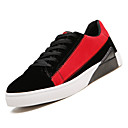 זול סניקרס לגברים-בגדי ריקוד גברים נעלי נוחות PU סתיו יום יומי נעלי ספורט נושם אדום / שחור לבן / שחור אדום