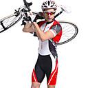abordables Sets de Maillots Ciclistas y Shorts / Pantalones-Nuckily Hombre Manga Corta Traje Tri - Rojo Geométrico Bicicleta Transpirable, Diseño Anatómico, Resistente a los UV Poliéster, Licra Rayas / Elástico / Avanzado / SBS cremalleras