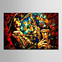 cheap Rolled Canvas Paintings-Oil Painting Hand Painted - People Modern Stretched Canvas
