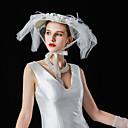 baratos Acessórios de Cabelo-Tule / Linho / Veludo Flocado Chapéus com Floral 1 Peça Casamento / Festa / Noite Capacete