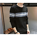 cheap Boys' Pants-Men's Basic Pullover - Solid Colored / Striped, Patchwork