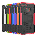 cheap Cell Phone Cases & Screen Protectors-Case For Huawei Huawei Y9 (2018)(Enjoy 8 Plus) / Y6 (2018) Shockproof / with Stand Back Cover Tile / Armor Hard PC for Huawei Y9 (2018)(Enjoy 8 Plus) / Huawei Y6 (2018) / Huawei Y6 II / Honor Holly 3
