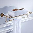 billige Baderomshyller-Hylle til badeværelset Nytt Design Antikk Messing 1pc Singel Vægmonteret