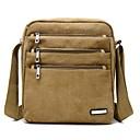 hesapli Çapraz Çantalar-Erkek Çantalar Tuval Omuz çantası Fermuar için Günlük İlkbahar & Kış Asker Yeşili / Kahve / Haki
