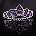 cheap Party Headpieces-Cubic Zirconia / Alloy Tiaras with Crystals 1 Piece Wedding / Special Occasion Headpiece