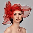 preiswerte Parykopfbedeckungen-Feder / Netz Fascinatoren / Kopfschmuck / Kopfbedeckung mit Feder / Blumig / Blume 1pc Hochzeit / Besondere Anlässe Kopfschmuck