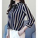 billige Taklamper-Bluse Dame - Stripet, Sløyfe Grunnleggende